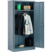 Global™ Wardrobe Cabinet Assembled 36x18x72 Gray