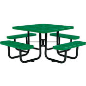 "46"" Square Perforated Picnic Table, Green"