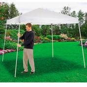 """Portable Slant Leg Pop Up Canopy, 10'L X 10'W X 8' 11""""H, White"""