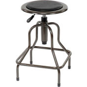 Interion™ Vinyl Industrial Stool Without Backrest - Pneumatic Height Adjustment