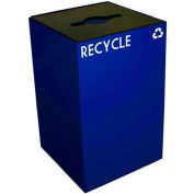 Steel Recycling Container with Combo Opening - 24 Gallon Capacity Blue - 24GC04-BL
