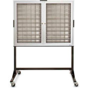 "Aluminum Key & Credit Card Cabinet Mobile Stand, 140 Pockets, 46""Wx3-1/4""Dx35""H"