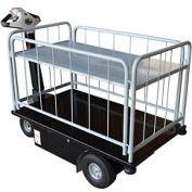 Vestil 2 Shelf Battery Powered Traction Drive Platform Truck NE-CART-3 500 Lb.