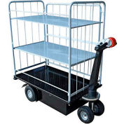 Vestil 3 Shelf Battery Powered Traction Drive Platform Truck NE-CART-4 500 Lb.