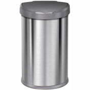 simplehuman® Semi-Round Sensor Can w/Plastic Lid - 11-4/5 Gallon Brushed SS
