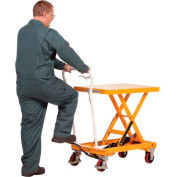 Vestil Auto-Shift Hydraulic Elevating Mobile Lift Table CART-550-AS 550 Lb.