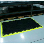 """Durable Corporation Workmaster II HV Anti Fatigue Mat 3/4"""" Thick 3' x 10.4' Black/ Yellow"""