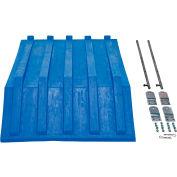 Blue Plastic Lid PLID-H-50-BU for Vestil Triple-Bin Recycling Hopper - Sold Each