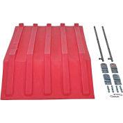 Red Plastic Lid PLID-H-50-RD for Vestil Triple-Bin Recycling Hopper - Sold Each