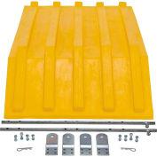 Yellow Plastic Lid PLID-H-50-YL for Vestil Triple-Bin Recycling Hopper-Sold Each