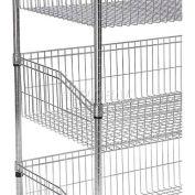 """Nexel Wire Shelf Basket 18"""" x 48"""""""
