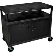 Luxor® HEW335C Cabinet Style Industrial Plastic Storage Cart 48 x 24 x 41
