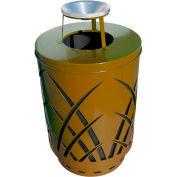Covington Sawgrass 40 Gallon Steel Receptacle w/Ash Top - Brown