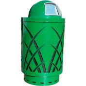 Covington Sawgrass 40 Gallon Steel Receptacle w/Dome Top - Green