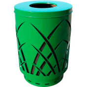 Covington Sawgrass 40 Gallon Steel Receptacle w/Flat Top - Green