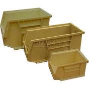 Global™ Plastic Stacking Bin 8-1/4x10-3/4x7 - White - Pkg Qty 6