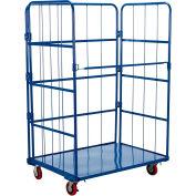 Vestil Steel Folding Roller Container Shelf Truck ROL-3143-1 1 Shelves 43x31x67