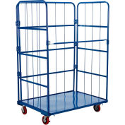 Steel Folding Roller Container Shelf Truck ROL-3143-1 1 Shelves 43x31x67
