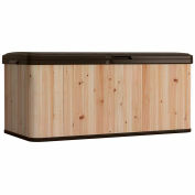 Suncast Cedar And Resin Hybrid Deck Box With Seat 99 Gallon