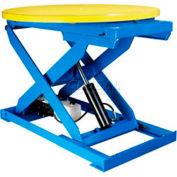 "Bishamon® OPTIMUS Lift2K Lift Table 43"" Dia. Turntable 2000 Lb. Cap. Foot Control L2K-TT"