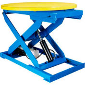 "Bishamon Lift3K Lift Table 43"" Dia. Turntable 3000 Lb. Cap. Foot Control L3K-TT"
