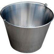 Vestil Stainless Steel Bucket BKT-SS-500 5 Gallon Capacity