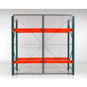 """Wirecrafters - RackBack® Wire Mesh Pallet Rack Enclosure - Back Panel 96""""W x 48"""""""