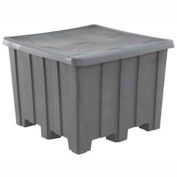 Rotational Molding Plastic Gaylord Pallet Container With Lid 02-307220 - 50x50x36-1/2, Natural