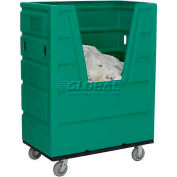 Green Best Value Hopper Front Plastic Bulk Truck 43 Cu. Ft.
