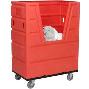Red Best Value Hopper Front Plastic Bulk Truck 43 Cu. Ft.