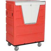 Red Best Value Hopper Front Plastic Security Bulk Truck 43 Cu. Ft.