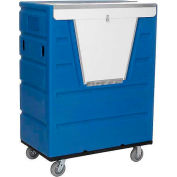 Blue Best Value Hopper Front Plastic Security Bulk Truck 43 Cu. Ft.