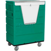 Green Best Value Hopper Front Plastic Security Bulk Truck 43 Cu. Ft.