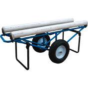 Portable Carpet Dispenser Cart CARPET-D-FF with Pneumatic Casters 500 Lb.