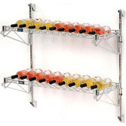 "Wine Bottle Rack - Wall Mount 18 Bottle 36"" x 14"" x 34"""