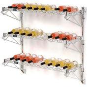 """Wine Bottle Rack - Wall Mount 27 Bottle 36"""" x 14"""" x 34"""""""