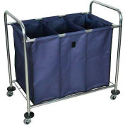 Luxor® HL15 Industrial Laundry Hamper Bulk Truck with 3 Compartments