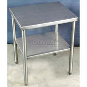 "DC Tech TB101127 24""W x 20""D x 30""H Stand-Alone Stainless Steel Table"