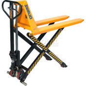 "Wesco® Telescoping Manual High Lift Pallet Truck 272755 2200 Lb. 21"" Forks"