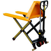 "Wesco® Telescoping Manual High Lift Pallet Truck 272975 3300 Lb. 20"" Forks"
