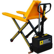 """Wesco® Telescoping Electric High Lift Pallet Truck 272937 3000 Lb. 27"""" Forks"""
