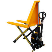 """Wesco® Non-Telescoping Electric High Lift Pallet Truck 272461 2200 Lb. 27"""" Forks"""