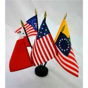 """Colonial Series No. 1 Flag Set - 5 Flag Set - 4"""" x 6"""""""