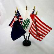 """Colonial Series No. 2 Flag Set - 5 Flag Set - 4"""" x 6"""""""