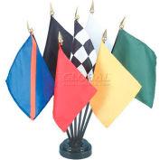 "Official Auto Racing Flag Set - 7 Flag Set - 4"" x 5"""