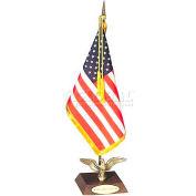 Ambassador US Miniature Flag Desk Set