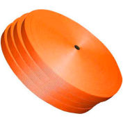 """Woven Polyester Strapping 1-1/4"""" x .050"""" x 600' Orange - Pkg Qty 4"""