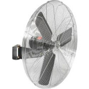 "TPI 30"" Wall Mount Fan, Non-Oscillating Gray 1/2 HP 9,850 CFM 1 Phase, Totally Enclosed Motor"