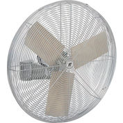 TPI AC30W, 30 Inch Wall Mount Fan Non-Oscillating 1/4 HP 7 4300 CFM 1 PH Totally Enclosed Motor