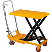 Wesco® Mobile Single Scissor Lift Table 272974 19.5x32 660 lb. Capacity